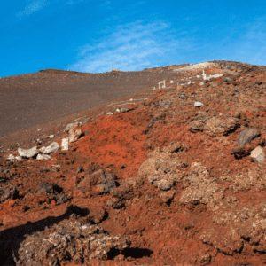 Climbing Mt Fuji looks like Mars the rocks are so red