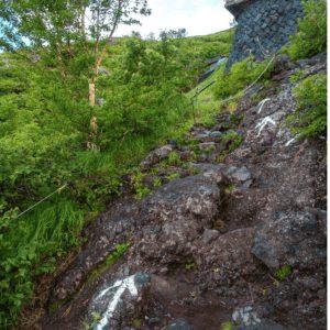 Climbing Mt Fuji gets steep and rocky