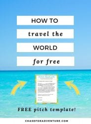 How to travel the world for free with pitch template