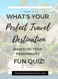 Wondering where to travel to? Take this fun quiz and find your dream destination based on your personality! Take the travel destination quiz now! #quiz #travelinspiration #travel