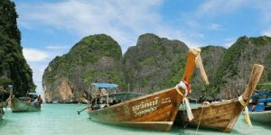 Longtail boats in Koh Phi Phi Thailand