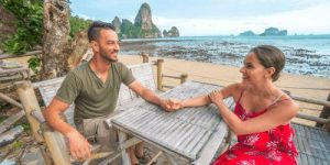 Couple holding hands on Tonsai Beach Thailand one of the best places in Thailand