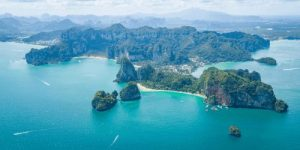 Aerial View of Railay Beach Thailand