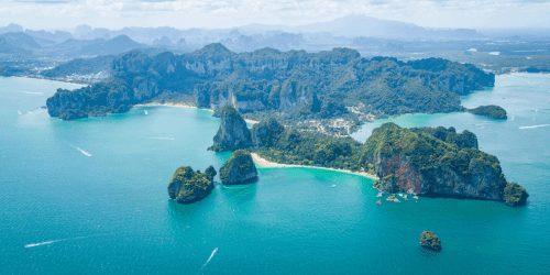 Aerial View of Railay Beach Thailand