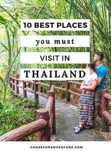 The BEST places in Thailand! Sharing all of our favorite places to visit in Thailand, including a few hidden gems. This top ten places to see in Thailand will knock your socks off! Click through! #Thailand #Bangkok #hiddengems