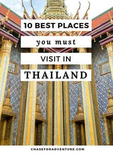 Sharing all of our favorite places to visit in Thailand, including a few hidden gems. This top ten places to see in Thailand will knock your socks off! Click through! #Thailand #Bangkok #hiddengems #wanderlust