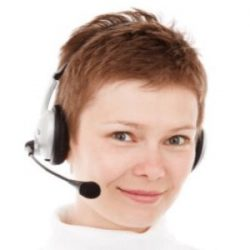 Customer Service Representative working one of the best location independent jobs