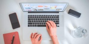 Web Designer working one of the best location independent jobs