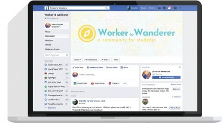 Worker to Wanderer Facebook Group Graphic