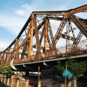 The Long Bien Bridge while Living in Hanoi