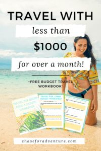 Travel for Under $1000 a month with these expert budget travel tips, travel hacking, and how to travel the world for free guide! Click through to get out budget travel workbook! #budgettravel #travelforcheap #cheaptravel