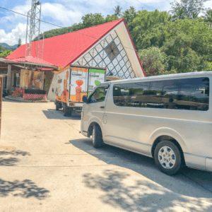 Parking at Kawasan Falls in Cebu Philippines