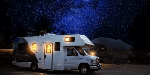 RV under the stars living your dream life