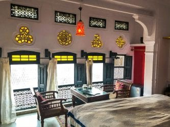 Bedroom at Seventh Heaven Inn while Visiting Pushkar India