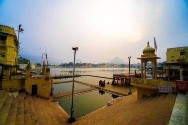 Pushkar Lake at Sunset in Pushkar India
