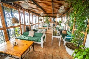 Inside of the Sixth Sense Restaurant in Pushkar India