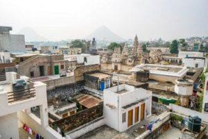 Aerial view of Pushkar India