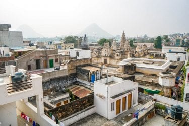 Aerial view of Pushkar India