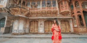 Woman wearing a Kurti Pajami in India