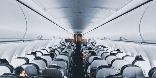 Empty plane ride