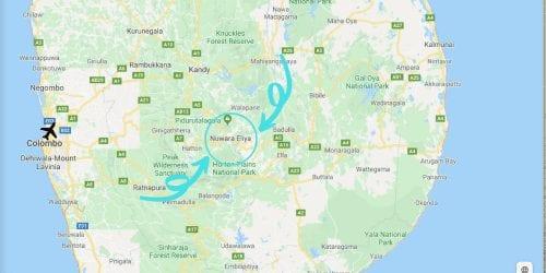 Where is Nuwara Eliya, Sri Lanka on a Map