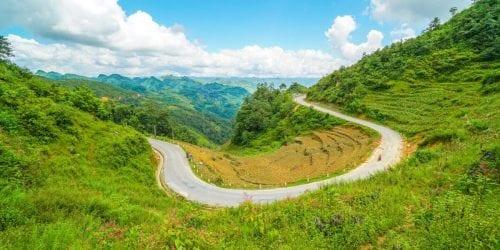 Ha Giang Loop Curvy roads