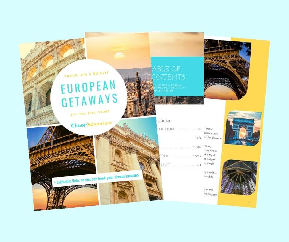 Europe for Cheap Ebook Chase for Adventure Shop