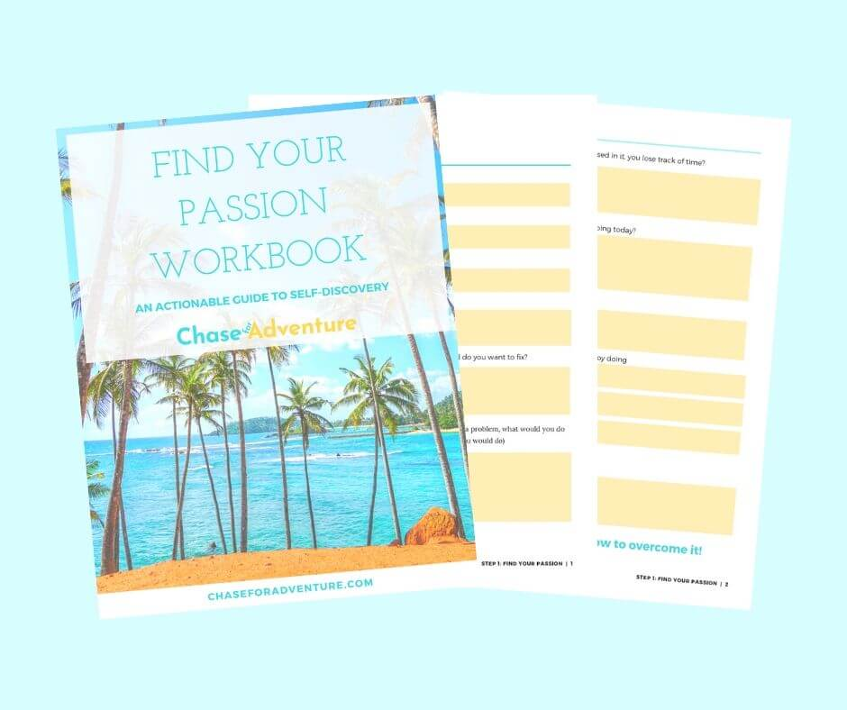 Chase for Adventure Shop Find Your Passion Workbook