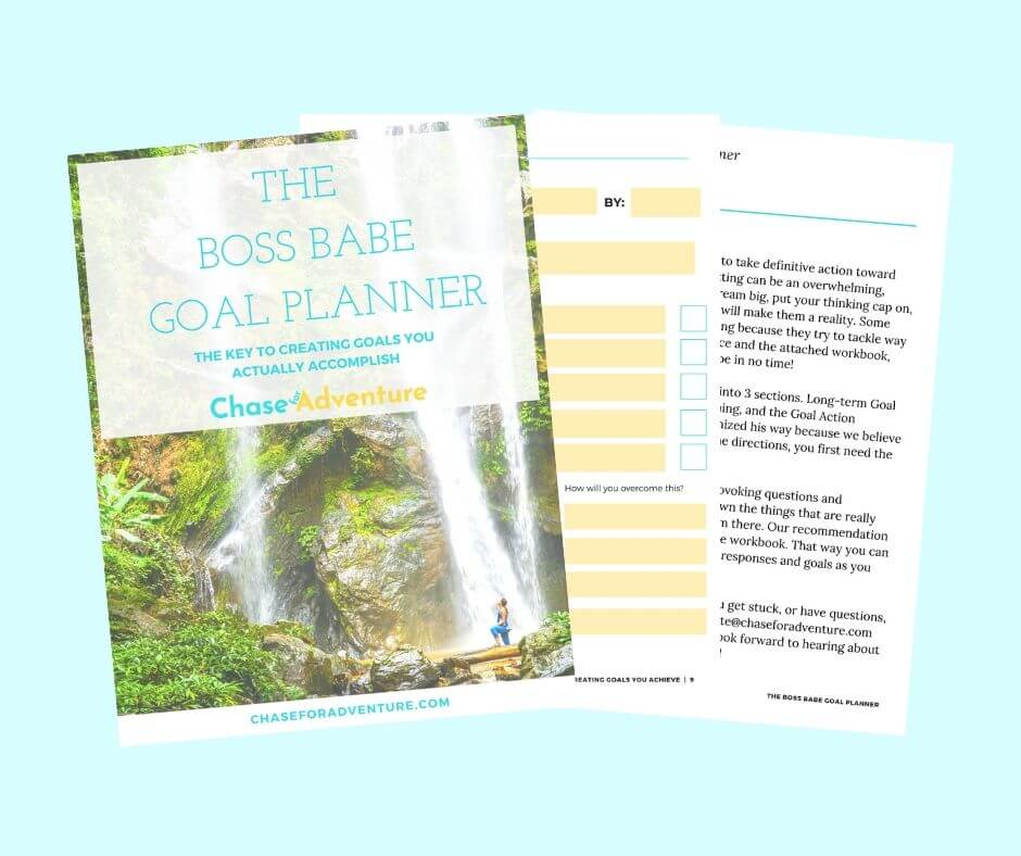 Chase for Adventure Shop Boss Babe Goal Planner